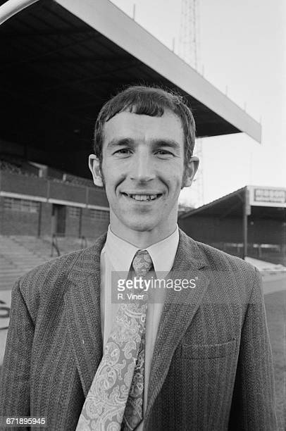 English footballer Bob Hatton at St Andrew's stadium in Birmingham after signing for Birmingham City FC UK 1st November 1971