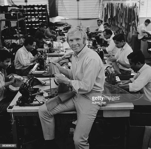 English footballer Bobby Moore at the HarrisonMoore Ltd leather coat factory in east London which he coowns and designs for 9th September 1969