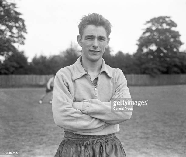 English footballer Brian Clough during his time as a striker for his home town club Middlesbrough FC August 1957