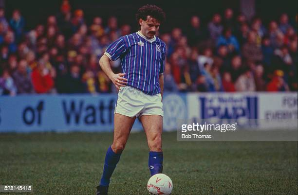 English footballer Clive Whitehead playing for Portsmouth F.C. In an English Division Two match against Watford at Vicarage Road, Watford, 26th...