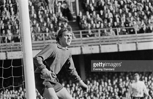 English footballer Colin Boulton, goalkeeper for Derby County FC, UK, February 1973.