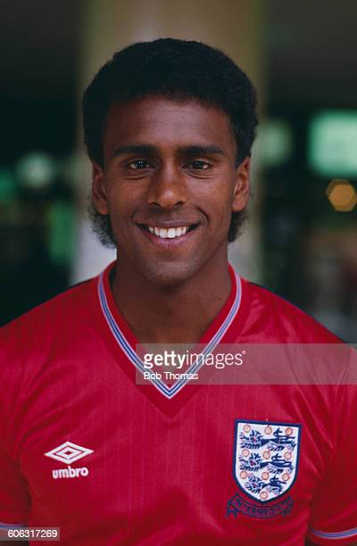 English footballer David Rocastle of Arsenal and the England under21 side circa 1985