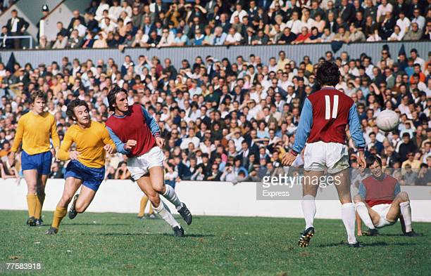 English footballer Frank Lampard Sr of West Ham United FC in action circa 1970