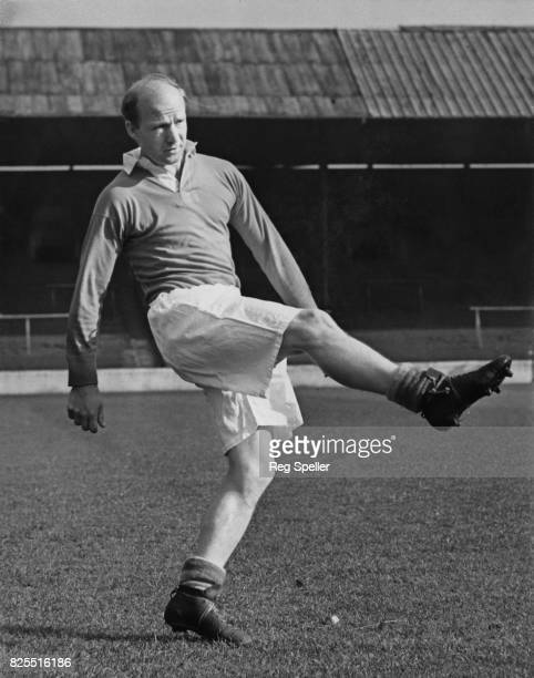 English footballer Gordon Hurst outsideright for Charlton Athletic FC during training at The Valley London for the next day's match against Tottenham...