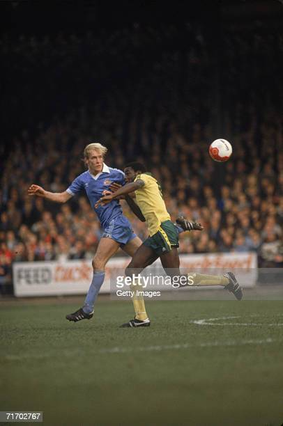 English Footballer Justin Fashanu in action for Norwich City circa 1980