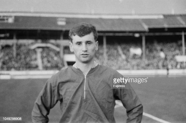 English footballer Len Badger of Sheffield United pictured prior to playing for the England national under18 football team in the final of the 1963...
