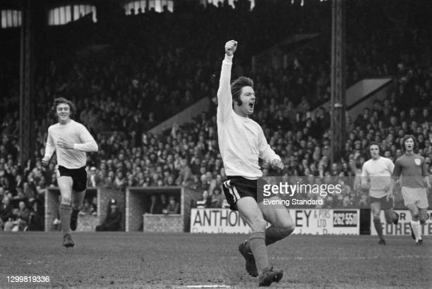 English footballer Les Barrett of Fulham FC during a League Division Two match against Millwall at Craven Cottage in London, UK, 1st April 1972. The...
