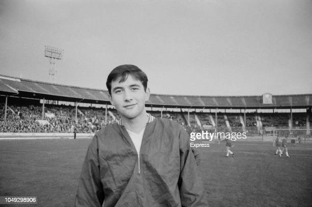 English footballer Lew Chatterley of Aston Villa pictured prior to playing for the England national under18 football team in the final of the 1963...