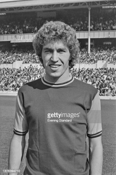 English footballer Pat Holland of West Ham United FC during a match against Tottenham Hotspur at White Hart Lane in London, UK, 14th September 1974....