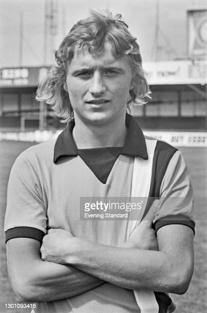 English footballer Paul Price of League Division 2 team Luton Town FC, at the start of the 1973-4 football season, UK, 6th August 1973.