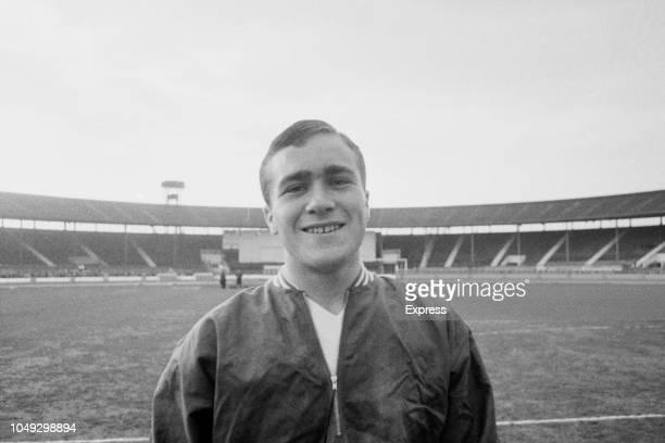 English footballer Ron Harris of Chelsea pictured prior to playing for the England national under18 football team in the final of the 1963 UEFA...