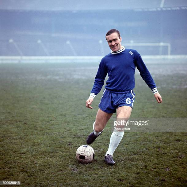 English footballer Ron Harris pictured training at Chelsea's home ground of Stamford Bridge in West London in 1966.