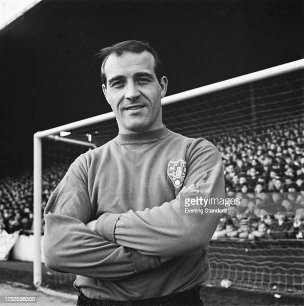 English footballer Ron Springett, goalkeeper for Sheffield Wednesday FC, UK, January 1967.