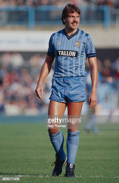 English footballer Sam Allardyce on the field for Coventry City during an English Division One match against West Bromwich Albion at Highfield Road...