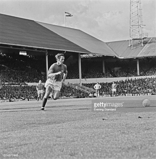 English footballer Steve Powell of Derby County FC during a League Division One match, UK, October 1973.
