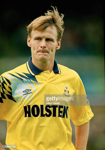 English footballer Teddy Sheringham of Tottenham Hotspur during a Premier League match against Ipswich Town at Portman Road Ipswich 30th August 1992...