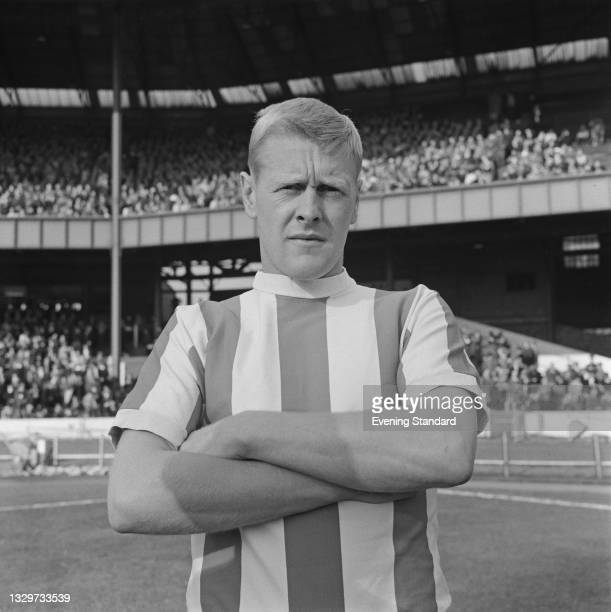 English footballer Tony Allen, a left back for Stoke City FC, during a League Division One match against Chelsea at Stamford Bridge in London, UK,...