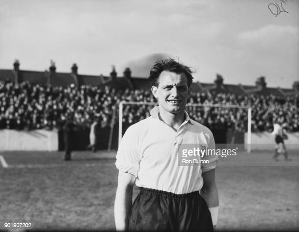 English footballer Tosh Chamberlain the Fulham FC outside left 14th March 1958
