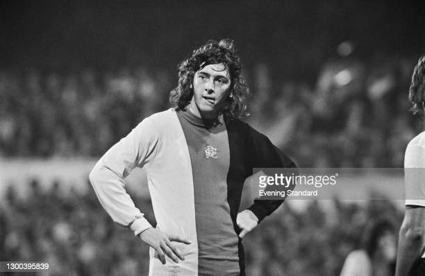 English footballer Trevor Francis of Birmingham City FC during a League Division One match against Tottenham Hotspur at White Hart Lane in London,...