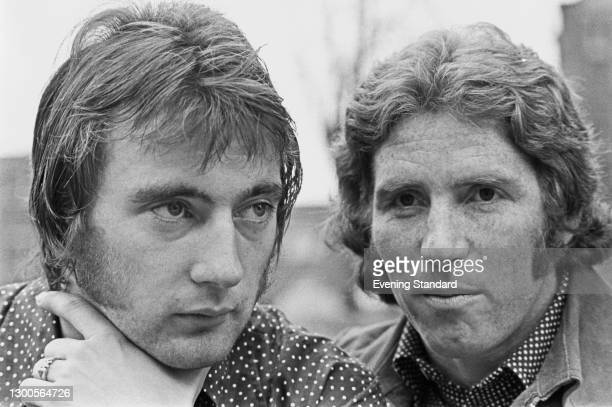 English footballers Alan Hudson of Chelsea FC and Alan Ball of Arsenal FC, ahead of the FA Cup quarter-final match between their two teams on the...