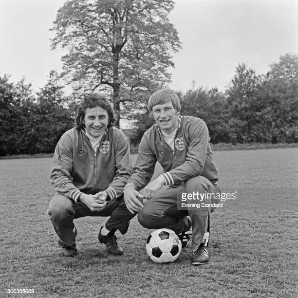 English footballers Roy McFarland and Colin Todd of Derby County FC, after being called up for the England squad, UK, 9th May 1972.