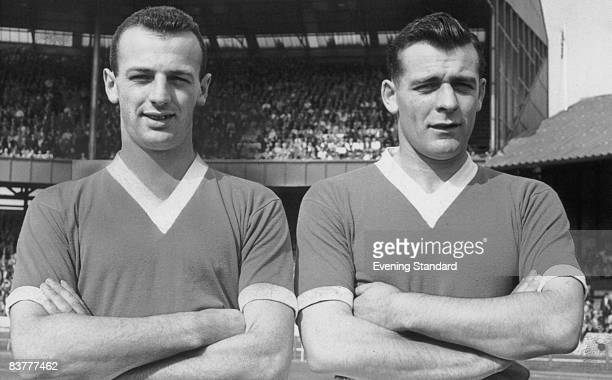 English footballing brothers John and Peter Sillett of Chelsea 13th September 1958