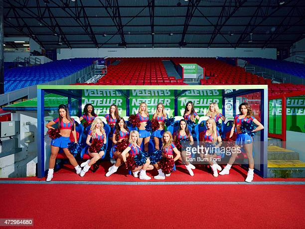 English football's only cheerleading squad The Crystals are photographed for the Telegraph on January 31 2015 in London England