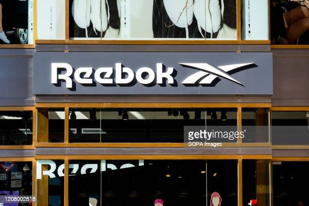 English footwear and apparel company Reebok store logo seen in New York City.