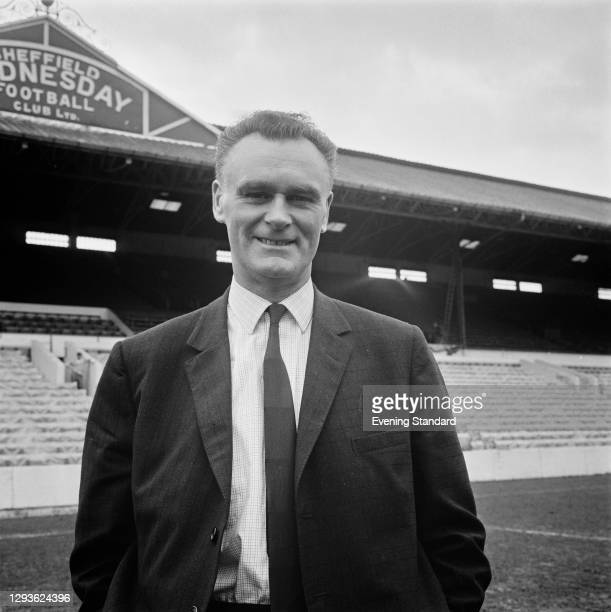 English former footballer Alan Brown , manager of Sheffield Wednesday FC, UK, 28th April 1966. His team is about to take on Everton in the FA Cup...