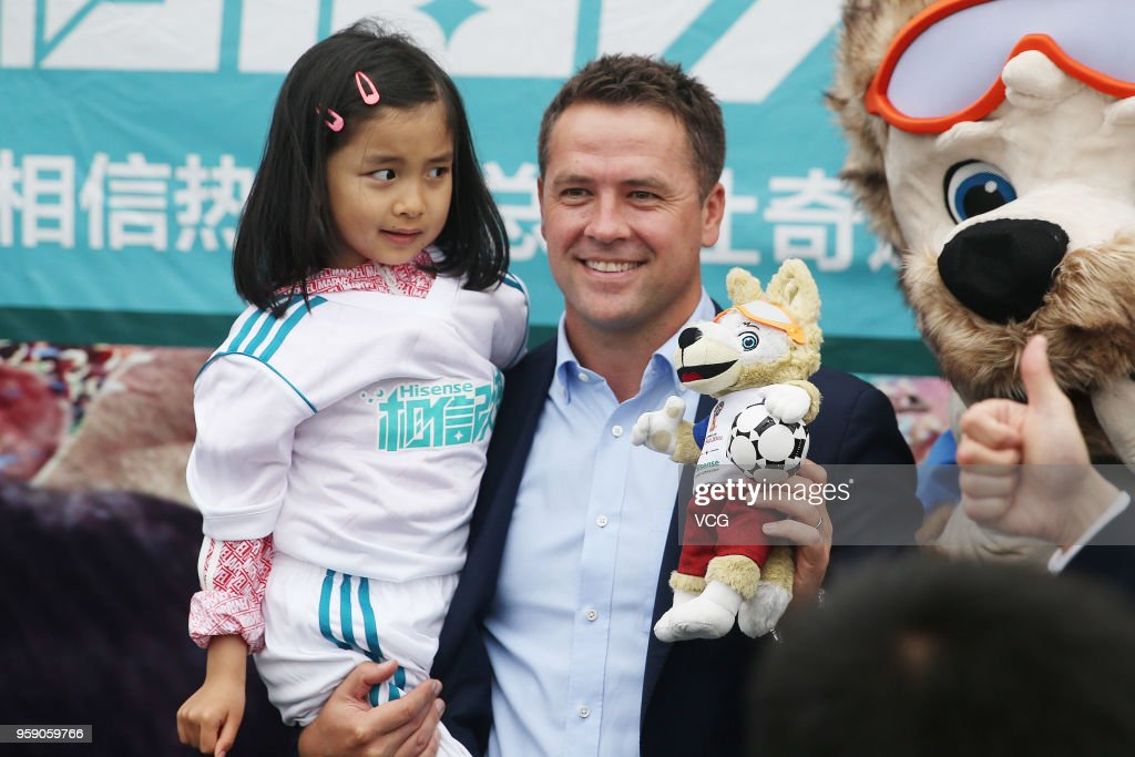 Michael Owen Attends FIFA World Cup Event In Qingdao