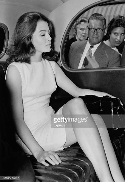 English former model and showgirl Christine Keeler in Cannes during the film festival May 1963 The following month British Secretary of State for War...