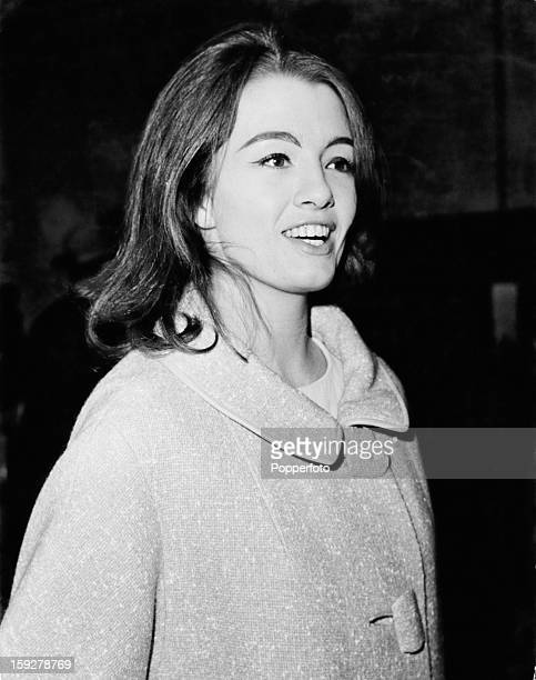 English former model and showgirl Christine Keeler London 20th June 1963 Police have been questioning her over the case of Stephen Ward who is...