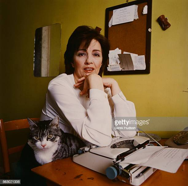 English former model and showgirl Christine Keeler March 1989