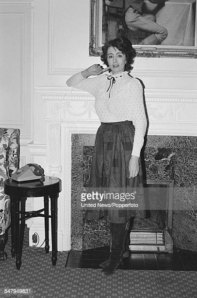 English former model showgirl and participant in the Profumo affair Christine Keeler pictured at Browns Hotel in London on 4th March 1983