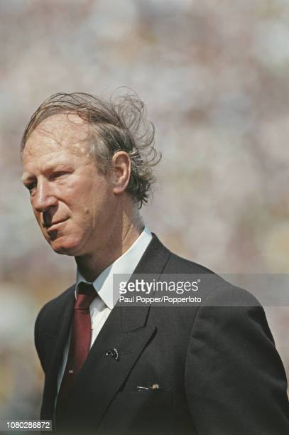 English former professional footballer Jack Charlton manager of the Republic of Ireland national football team pictured during a Republic of Ireland...