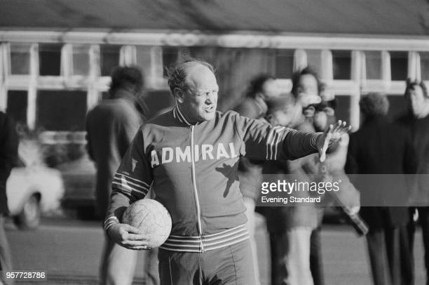 English former soccer player and manager of the England team Ron Greenwood during training UK 15th November 1977