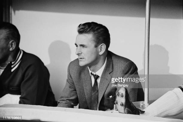 English former soccer player Brian Clough manager of Derby County FC at Stamford Bridge during a match against Chelsea FC, London, UK, 11th October...
