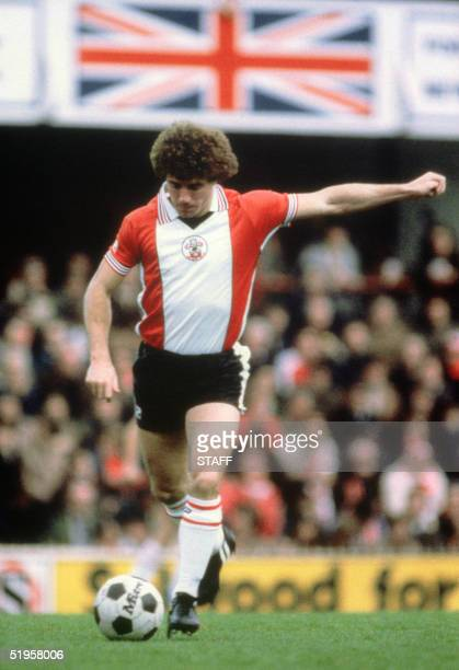 English forward Kevin Keegan gets ready to kick the ball during a Premier League soccer match in November 1981 In his career Keegan won the European...