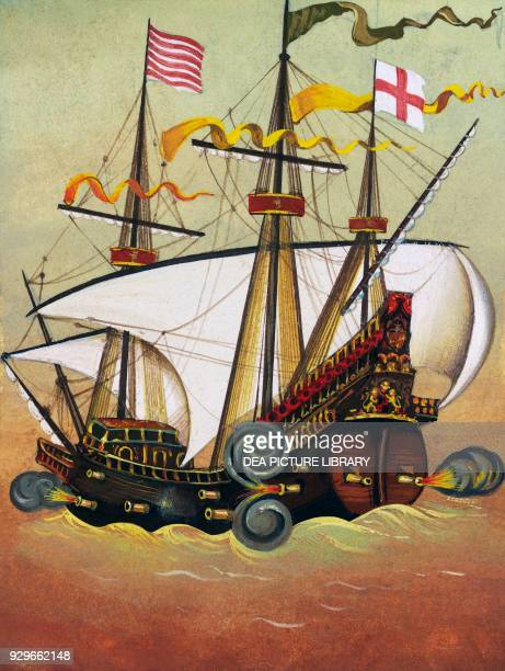 English galleon drawing