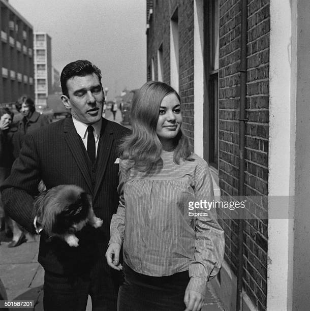 English gangster Reggie Kray with his fiance Frances Shea London April 1965 Kray is returning home after being found not guilty on menaces charges