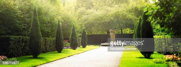 English garden at Regents Park in London UK