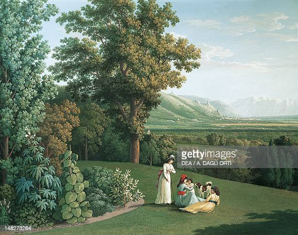 English garden at the Palace of Caserta by Jacob Philipp Hackert Caserta Reggia Di Caserta Palazzo Reale