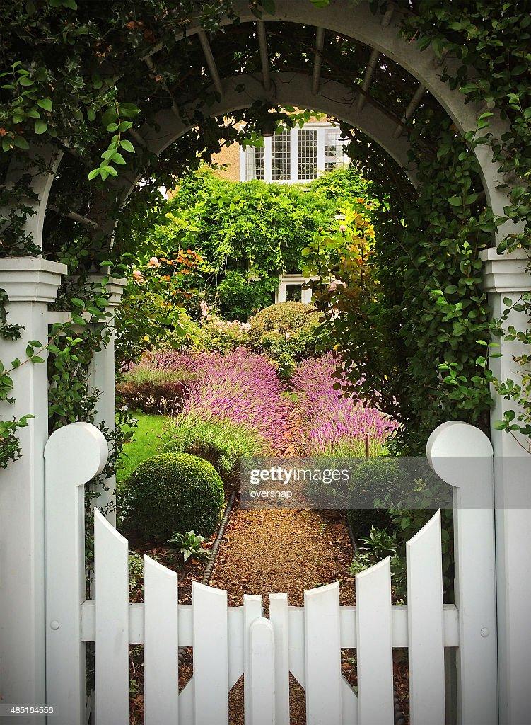 English garden gate : Stock Photo