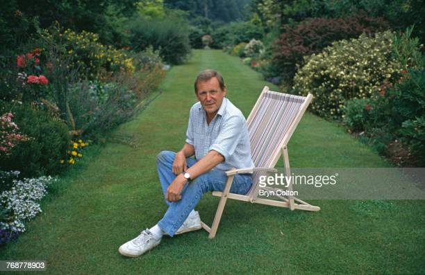 English gardener broadcaster and author Geoff Hamilton in the grounds of his home at Barnsdale Gardens Oakham Rutland circa 1990 Hamilton was best...