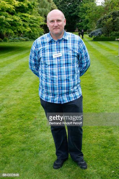 English gardener of the Stade de France Tony Stones attends the Neighbours' Day Cocktail at British Embassy on May 17 2017 in Paris France