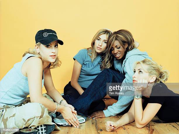 English girl group All Saints 30th September 1997 They are Melanie Blatt and Shaznay Lewis and sisters Nicole Appleton and Natalie Appleton