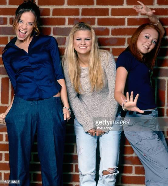English girl group Atomic Kitten London June 1999 Left to right Liz McLarnon Kerry Katona and Natasha Hamilton