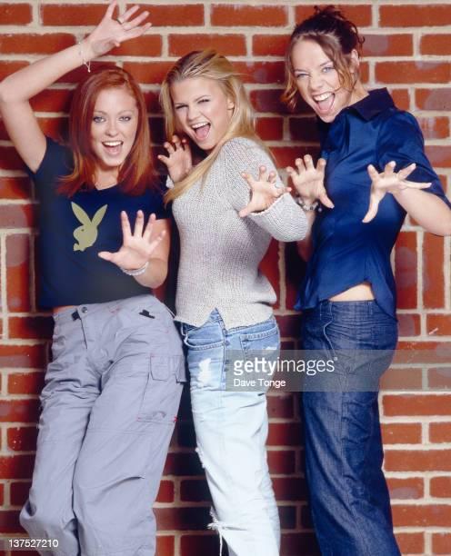 English girl group Atomic Kitten London June 1999 Left to right Natasha Hamilton Kerry Katona and Liz McLarnon