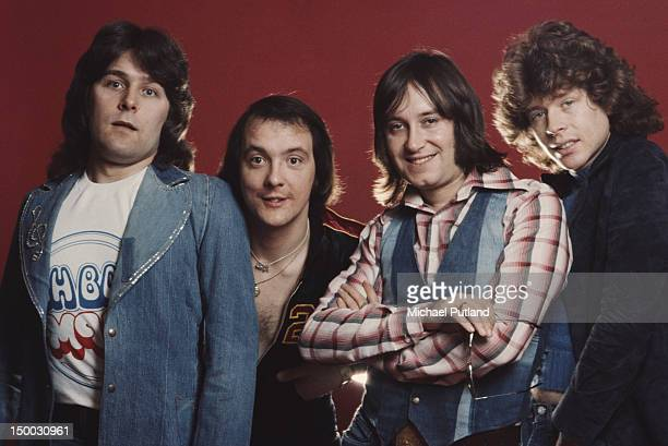 English glam rock group Mud London 1974 Left to right Ray Stiles Dave Mount Les Gray Rob Davis