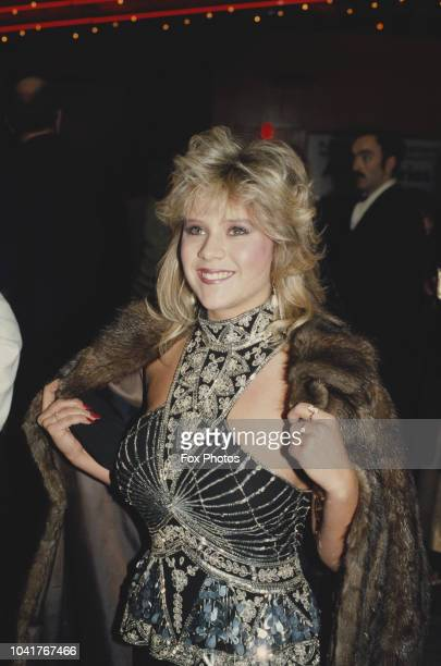English glamour model and singer Samantha Fox at the London premiere of the film 'Dune' 13th December 1984